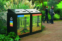 Botanical Gardens, Edinburgh #StreetFurniture #Litterbin #Recycling…