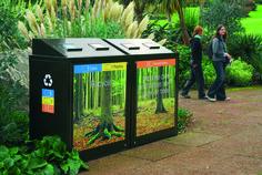 Botanical Gardens, Edinburgh #StreetFurniture #Litterbin #Recycling…