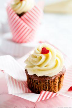 Ridiculously moist beet red velvet cupcakes