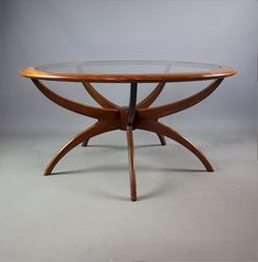 Midcentury, Retro and Vintage Coffee Tables, G Plan Teak Spider Table. G Plan Teak Spider table. Classic mid-century design, the Spider table is probably the best of the coffee tables made by G Plan. G Plan Coffee Table, Coffee Table Orange, Round Coffee Table, G Plan Furniture, Lounge Furniture, Art Furniture, Antique Coffee Tables, Vintage Coffee, Teak Dining Table