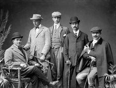 A quintet of thoroughly dapper looking Edwardian Irish gents from Ireland Irish men Edwardian portrait vintage Edwardian Era, Edwardian Fashion, Vintage Fashion, Teddy Girl, Looks Vintage, Vintage Men, Vintage Gentleman, Vintage Photographs, Vintage Photos