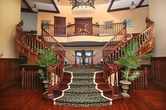 I will take this staircase in my plantation house minus the ugly carpet.