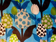 Tiptoe Through the Tulips Groovy 60s Fabric