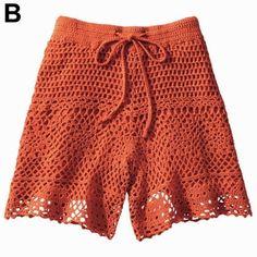 Crochet Pants, Crochet Skirts, Crochet Clothes, Knit Crochet, Short Tejidos, Bikinis Crochet, Summer Knitting, Crochet Magazine, Knit Fashion