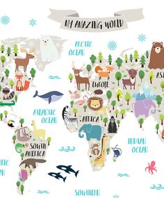Cool World Map Decals To Get Kids Excited About Geography Travel - Cool map posters