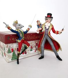 Nutcracker Ballet Drosselmeyer and Mouse King Christmas decorations available now in our Christmas shop, along with other Nutcracker characters Nutcracker Characters, Jewel Tones, Christmas Shopping, Snow Globes, Christmas Decorations, Ballet, King, Christmas Decor, Dance Ballet