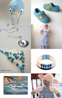 Blue touches by Christa Mavropoulou on Etsy--Pinned with TreasuryPin.com