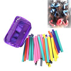 New 42pcs Curler Makers Soft Hair Rods Tools Foam Bendy Twist Curls Sticks DIY  #Doesnotapply
