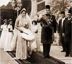 King Farouk and Queen Farida'S  Wedding