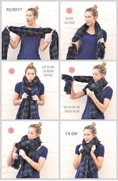 Conseils de mode, comment nouer une écharpe homme ou femme en soie, en coton, en lin. Astuces et technique pour bien nouer son écharpe.