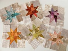 quilt blocks...love those muted colors!