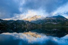 Fotobehang: Meer en Bergen