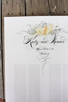 Custom Wedding Guest SignIn Scroll  as seen in BRIDES by eDanae, $115.00//use for sign ?