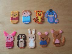Winnie the Pooh perler beads Winnie the Pooh perler beads - Disney Crafts Ideas Hama Disney, Perler Bead Templates, Diy Perler Beads, Perler Bead Art, Pearler Beads, Melty Bead Patterns, Pearler Bead Patterns, Beading Patterns, Loom Patterns