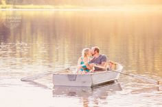Romantic Rowboat Engagement Session - Prince George British Columbia