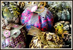 Under The Table and Dreaming: Vera Bradley Pattern Pumpkins {Guest Post featuring Crafting Rebellion} (mod podge)