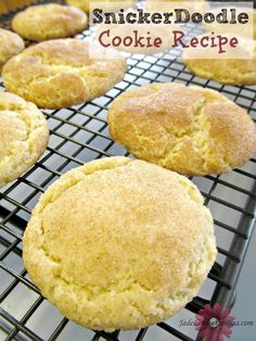 Snickerdoodles Cookie Recipe.  Just made,used same ingredients with a more traditional method. Yum :)