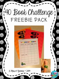 Spark Student Motivation with a 40 Book Challenge FREEBIE!