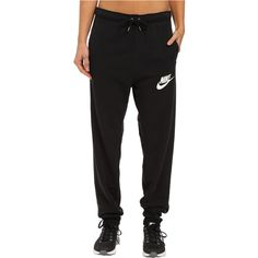 Nike Rally Jogger Sweatpant (Black/Black/Summit White) ($46) ❤ liked on Polyvore featuring activewear, activewear pants, pants, black, nike, jogger sweatpants, white jogger sweatpants, nike sportswear and nike activewear