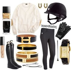 Obsessed! Lose the hat for me since I'm not  an equestrian ✳ but the outfit is gorgeous and classy