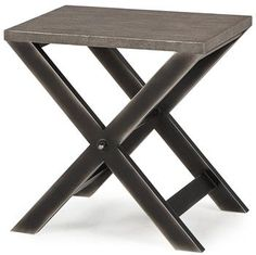 Billie Modern Classic Faux Shagreen Cross Leg Side Table. #kathykuohome