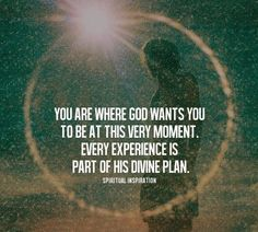 You are where God wants you to be…:)