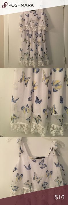 LC Lauren Conrad delicate butterfly dress Size small worn once. Excellent condition! Alice in wonderland collection!! Priced to sell LC Lauren Conrad Dresses