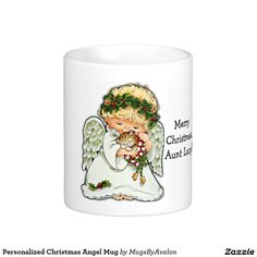 Personalized Christmas Angel Mug - change the name to fit your recipient of choice!