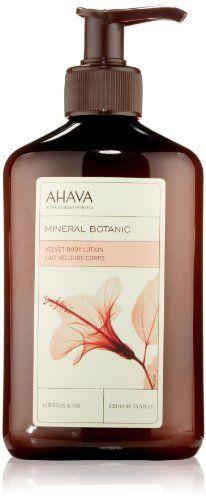 AHAVA Mineral Botanic Velvet Body Lotion, Hibiscus & Fig, 13.5 fl. oz. AHAVA