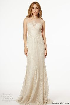 francesca miranda wedding dress fall 2015 strapless sweetheart neckline bridal ivory sheath gown salina
