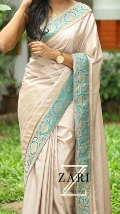 ZARI by Anju Shankar is a Chennai based online store provieds Latest Sarees, Designer Sarees, Fancy sarees an online Shopping. Indian Dresses, Indian Outfits, Modern Saree, Indian Sarees, Kanakavalli Sarees, Bengali Saree, Work Sarees, Sabyasachi, Georgette Sarees