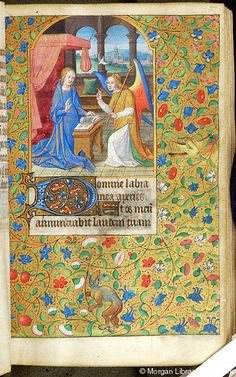 Book of Hours, MS M.1110 fol. 37r - Images from Medieval and Renaissance Manuscripts - The Morgan Library & Museum