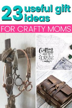 If you're looking for amazing gifts for your crafty mom this holiday season, check out these 21 gift ideas for the perfect Christmas gift, and find your mom's favorite. Crafty gifts she truly wants. #christmasgiftguide #momchristmasgift #christmasgift Book Crafts, Crafts To Do, Cute Gifts, Unique Gifts, Craft Storage Cart, Craft Room Signs, Craft Things, Amazing Gifts, Do It Yourself Crafts