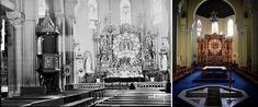 Iglesia de la Virgen de la Paloma - Interior de 1928 y 2017. Madrid (España). Interior, Painting, Photo Caption, Design Interiors, Painting Art, Paintings, Interiors, Drawings, Interieur
