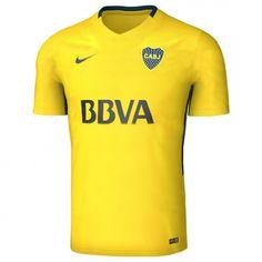 17 18 Boca Juniors Away Yellow Soccer Jersey Shirt CheaplyJersey.com