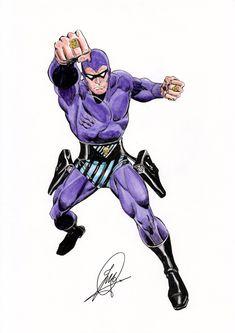 The Phantom by Ron Frenz Dc Comics, Batman Comics, Anime Comics, Comic Books Art, Comic Art, Comic Character, Character Design, Phantom Comics, Alternative Comics