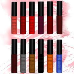 Hot Sale 6pcs/set Professional New Makeup Lip Stick Waterproof Matte Liquid Lipstick Nude Color Long Lasting Lip Gloss Batom