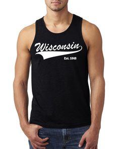 Wisconsin Tank Top #wisconsinstate #wisconsin #state #home #wisconsintanktop