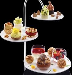 The Taste by Michalak, high tea dessert, plated dessert selection French patisserie