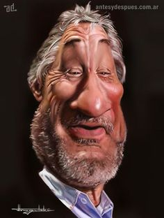 Caricature Collection: Robert De Niro by Patrick Strogulski Cartoon Faces, Funny Faces, Cartoon Art, Funny Caricatures, Celebrity Caricatures, Caricature Art, Sketch Manga, Funny Drawings, Wow Art