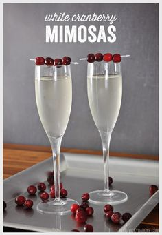 White Cranberry Mimosas | Vicky Barone