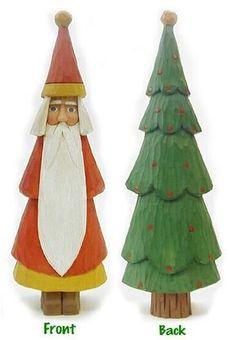 Folk Art Santa/ Tree