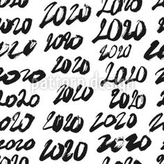 New Years 2020 Repeat Pattern by Ekaterina Chernysheva at patterndesigns.com Vector Pattern, Pattern Design, Plains Background, New Year 2020, Repeating Patterns, How To Draw Hands, Lettering, Typography, Hand Reference