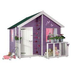 Cette maisonnette en bois pour enfants personnalisable trouvera aisément une place dans votre jardin. http://www.amenager-ma-maison.com/maisonnette-bois-enfant-loulou-PR-118.html