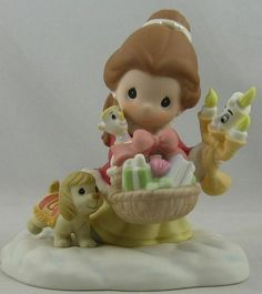 NIB 810038 Precious Moments Disney Belle Beauty and The Beast Giving We Receive