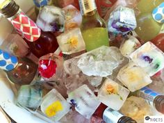 Ice cubes with flowers Ice Cubes, Party Time, Events, Flowers, Blog, Do Your Thing, Happenings, Flower, Blossoms