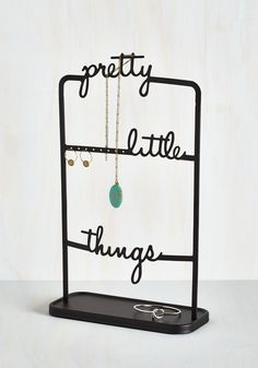 Chic Collection Jewelry Stand. Choosing the right baubles to beautify your look is a decision you dont take lightly, and you hang all those accessories from this black jewelry stand! #black #modcloth