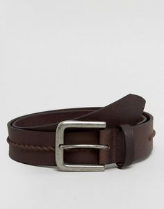 Brown Goodfellow Mens Reversible Pebbled Bonded Leather Belt Black