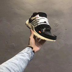 471318f35849 2018 Factory Authentic OFF White blanc x Nike Air Presto Black Noir White  blanc Youth Big Boys Shoes