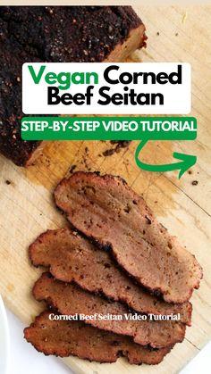 Vegan Seitan Recipe, Seitan Recipes, Vegan Beef, Vegan Foods, Vegan Dishes, Plant Based Diet, Plant Based Recipes, Sweet Potato Buns, Whole Food Recipes